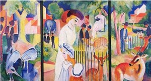 August Macke - Grosser Zoologischer Garten Home Decor Handpainted &HD Print Oil Painting On Canvas Wall Art Canvas Pictures 191231