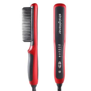 Multifunctional Beard Straightener Hair Styler Brush Men Hair Ceramic Curler Electric Hair Straightener Comb Care MachineRa