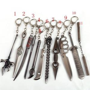 Naruto Kılıç Anahtarlık Sasuke Uchiha Kunai Silah Kolye Anahtar Zincirler Erkekler Kadınlar için Anahtarlık Figürü Oyuncak Takı Araba Acessories