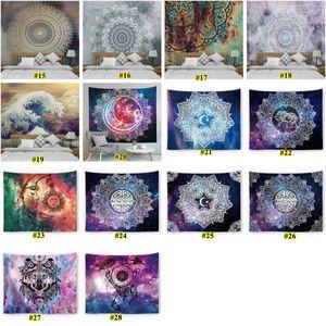 Mandala Tapisserie Hippie Mur Hanging Flower Digital imprimé Bohemia Bohême de couvre-lit Tapis de plage Mat Yoga Mat Couverture EWC1521