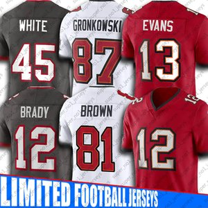 Antonio Brown Tom Brady Jersey TampaBahíabucanerosJersey Mike Evans Rob Gronkowski jerseys Chris Godwin Devin White