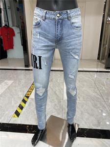 NOUVEAU Style Hommes Designer Crayon Jeans Lettre Imprimé Blanc Denim Pantalons Fashion Club Vêtements Pour Homme Livraison Gratuite Hip Hop Skinny Jeans 1324