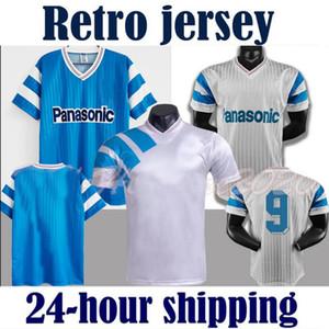 1990 1991 Retro Olympique 1992 1993 Futebol Jerseys Marselha Futbol Maillot Kit Vintage Camiseta Classic Camiseta