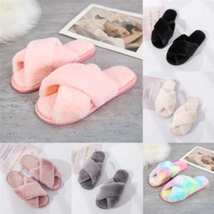 71ybw star Brand plush Slippers Cross Slippers suicoke sandals Hip-hop sandals for man white slipper women sneakers men designer shoes