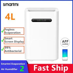 SmartMi Evaporation Air Humidificador de aire 2 4L Capacidad grande 99% Pantalla de pantalla inteligente antibacteriana para la aplicación Control1