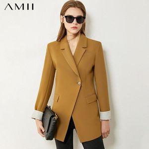 Amii Minimalism Herbst-Winter-Frau Anzug Mode-Revers-Fest OLsytle Klage-Mantel-verursachende Frauen Jacke Tops 12070380