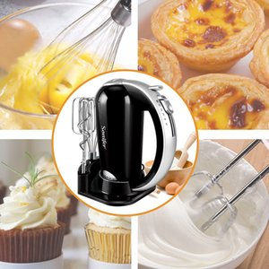 FreeShipping 5 Speeds Food Mixers Stainless Steel Dough Mixer Egg Beater Dough Blender With Electric Mixer For Kitchen Cooking 220V