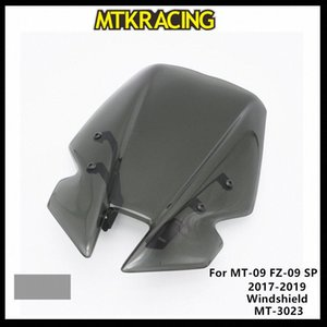 MTKRACING Pour MT09 FZ09 Windscreens MT 09 SP FZ 09 2017 2018 2019 DÉFLECTEURS Pare-brise Pare-brise MT 3023 Moto Windscreens QGdZ #