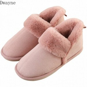 2020 New Winter Bag With Cotton Ladies Home Plush Warm Non Slip Couple Home Snow Boots Black Boots For Women Red Boots From , $21.04| C7er#