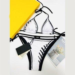 Удные бикини набор классические буквы шаблон дизайнерский купальник летний купальники ремешки купальники женские безызыванные купальники оптом
