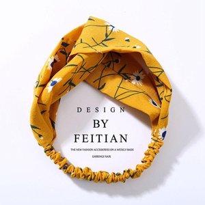 Iloveiy femme turban torsadée chiffon floral bandeau floral filles élastiques filles fleur bande bande de cheveux bijoux q bbylwm