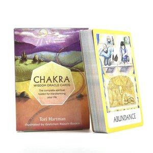 Deck Chakra cartões de Tarot o Oracle jogo de tabuleiro para festa de família Playing Games Inglês Guia Crianças Puzzle Game bbyfeS alice_bag