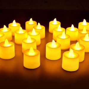 Candle lamp Battery Operated LED Tea Lights Candles Flameless Flickering Weeding Decor Festival Celebration Wedding small night lights