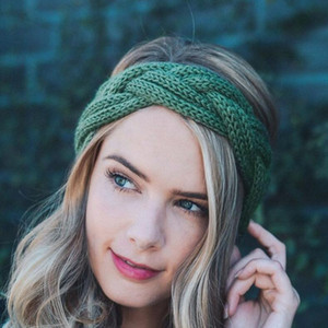9 colors Knitted Crochet Headband Women Winter Sports Hairband Turban Yoga Head Band Ear Muffs Cap Headbands YYA551
