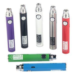 5pcs eVod USB Pass Through Ego Charge UGO V II 650 900mAh Vaporizer Pen Cartridge Battery with Micro USB Cable