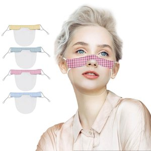 Lip Language PVC Popular Adorable Printed Pattern Transparent Daily Life Mask Simple Fashion Design Lattice Floral And Camouflage Optional