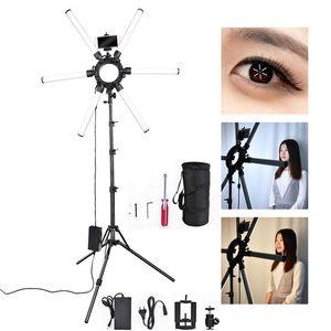 fosoto фотографического освещения 6 трубок 672 светодиодов Video Light 120W Мультимедиа Экстремальный Star Light Lamp С Штатив для телефона камеры