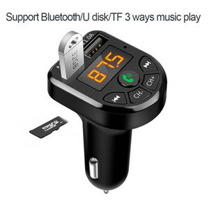 Car MP3 player Bluetooth 5.0 FM Transmitter Car Kit MP3 Modulator Player Wireless Handsfree Audio Receiver Dual USB Fast Charger 3.1A