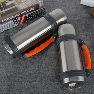 1 .2l  40oz Outdoor Exercise Water Bottles Household Stainless Steel Vacuum Cup Car Travl Thermos Bottle With Rope