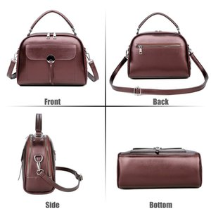 Shell-Form-Frauen-Beutel-Art Einfache Schultertasche Retro Messenger Bag Wine Red