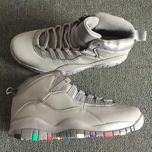 Men Kids Basketball shoes Jumpman 10 10s Desert Camo Cement Tinker I'm back Chicago Cool Grey Powder Blue Steel Grey trainers sport Sne