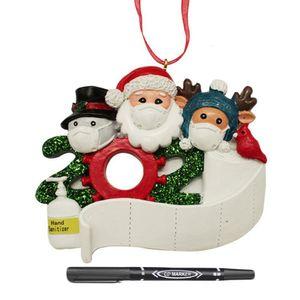 Santa Claus Personalized 2020 Quarantine Family Customized Resin Decorating Set Christmas Ornaments Party Gift #4w LGI9