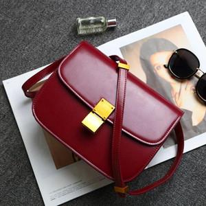 Neue Frauen Umhängetasche Leder Kreuzkörpertasche Box Lock Mini Square Taschen Tofu Taschen Mode Flug Begleiter Handtaschen Kawaii