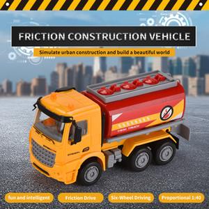 ABS véhicule jouet de construction en plastique pour enfant sauvetage de friction cognition apprentissage cadeau camion citerne jouet voiture