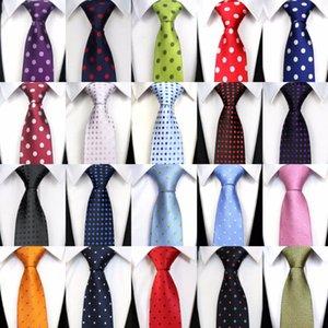 Шеиные галстуки XT33-52 шелковый галстук для мужчин Цветочные в горошек CORBATAS 8 CM Gravata Classic Formance Social Meeting Pink Party свадебное платье