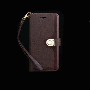 Classic Leather Designer الفاخرة محفظة حالة الهاتف آيفون 12 برو 11 برو x xr xs ماكس 8 7 بلس جالاكسي s20 ملاحظة 20 قذيفة هال الجلد حامل
