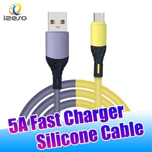 Type C 5A Super Fast Charger Liquid Silicone 3ft Newest USB Sync Data Cable Quick Charging Line for Samsung Note20 Huawei P40 izeso