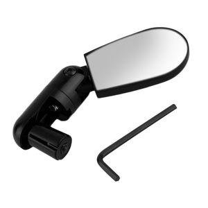 Girar la montaña Mini Negro flexible para bicicleta moto Auto reflectante del espejo retrovisor del manillar para el aire libre