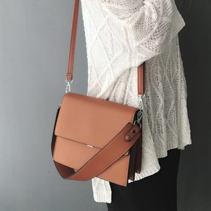 New 2020 Female brief bag fashion all-match shoulder strap orgnan bag women messenger small casual office style D275