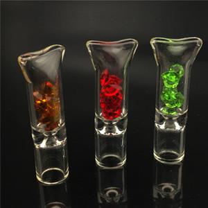 다이아몬드 드라이 허브 롤 용지 담배 홀더 파이렉스 유리 튜브 필터 담배 파이프 흡연 액세서리 도매 유리 필터 팁