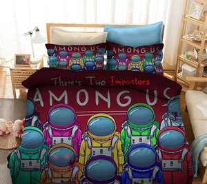 4 styles Game Us Bedding Suit Amongus Quilt Cover Cartoon Game 3D Printed Bed Child Spead Bedroom Bed Duvet Cover Bedclothes 2 3pcs Set