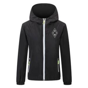 2020 21 borussia monchengladbach soccer jacket zipper Hooded Windbreaker soccer jerseys soccer hoodie Windproof jacket coat Running Jackets