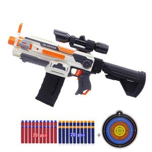 Nerf Gun Sniper 소년 장난감 전기 촬영 다트 소프트 구멍 머리 글 머리 기호 재미 있은 아이 게임 어린이 생일 선물