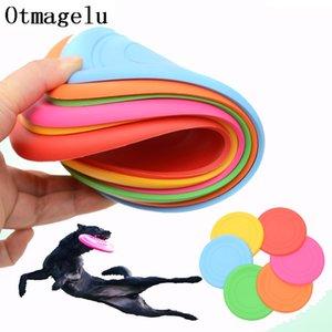 1pcs drôle de silicone flying soucoupe chat chat jouet chien jeu flying disques résistant à mâcher chiot entraînement interactif