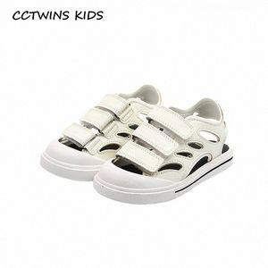 CCTWINS Детская обувь 2020 лето ребёнки Повседневная обувь Детская мода Пляж сандалии мальчиков Марка Black Flat Малыши BS545 pfPj #