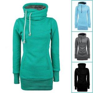 Formation Pulls d'exercice Sweaters Femmes manches longues à capuchon cordon de cordon de cuisson de la bande de sport pour femmes