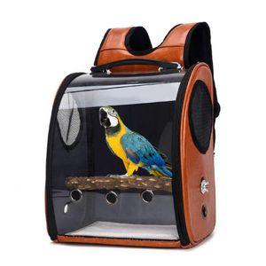 Pet Parrot Bird Carrier Travel Bag Space Pack Trasparente Zaino traspirante all'aperto