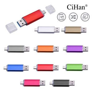 CiHan 이상 10 PCS 무료 로고 USB 플래시 드라이브 금속 펜 드라이브 1백28기가바이트 USB 스틱 3. 0 Pendrive 64기가바이트 32기가바이트 16기가바이트 8기가바이트 4기가바이트 안드로이드 전화 / PC