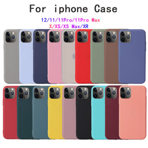 Para iPhone 12 mini xs pro max xr capa macia para iphone 11 7 8 plus caso de silicone líquido capa de coque de doces
