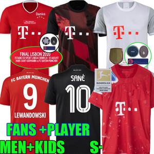 20 21 Bayern Múnich Fútbol Sane HumanRace versión jugador LEWANDOWSKI 2020 2021 D. Costa 6 taza final hombres hijos FÚTBOL camisa del uniforme