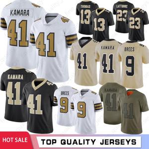 41 Alvin Kamara jerseys 9 Drew Brees de los hombres de fútbol de los jerseys 23 Marshon Lattimore 13 Michael Thomas Colina 7 88 94 Cameron Bryant 2020 Nuevo