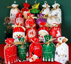 Christmas Plastic Drawstring Bags Candy Cookie Snack Gift Bags Birthday Party Wedding Decor bag Kid Favorite Bags