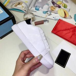 Chegada Nova Marca Moda Infantil menina do menino Casual calça as sapatilhas do miúdo sapatos de alta qualidade do couro genuíno Bee bordado