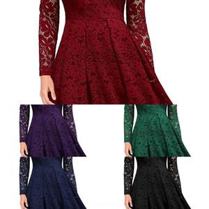 Gyln Dot Sleeve Pleat Cap 인쇄 긴 여성 파티 이브닝 드레스 2019 새로운 섹시한 깊은 V 목 여성 라인 바닥 길이 패션 캐주얼 드레스