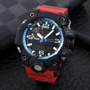 Горячая продажа 1100 большой грязи король спорта цифровых часы мужские часы замороженный из случайных электронные часы все функции можно управлять