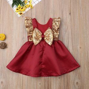 Weihnachten Kleinkind Kinder Baby Mädchen Kleid Prinzessin Pailletten Rot Tutu Kleid Party Hochzeitsform Jlcut